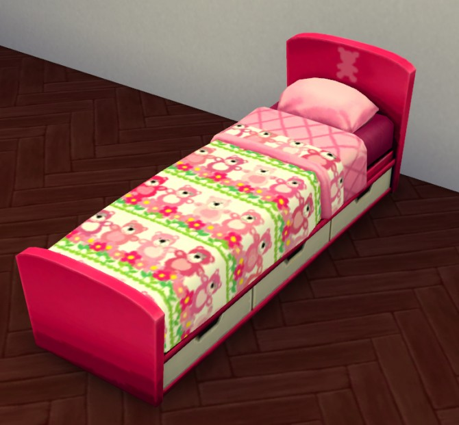 Teddy Bear Kiddies Bed Set by Lauren Cheerio at Mod The Sims image 556 670x621 Sims 4 Updates