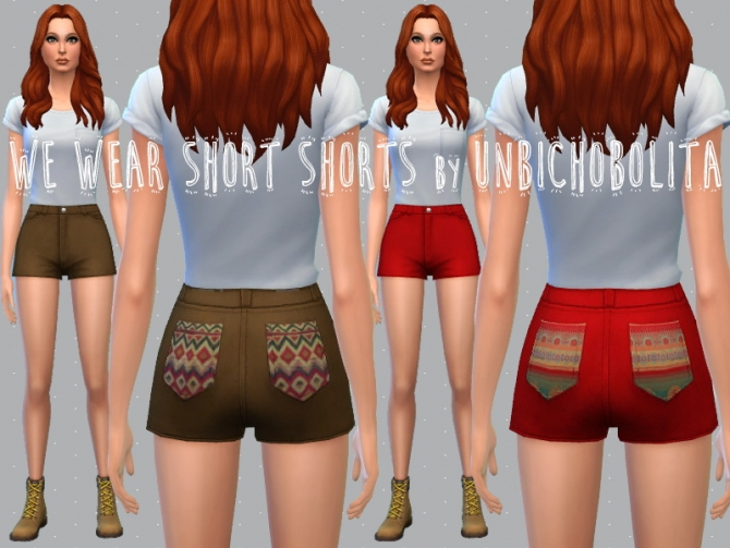 Shorts recolors at Un bichobolita image 5612 Sims 4 Updates