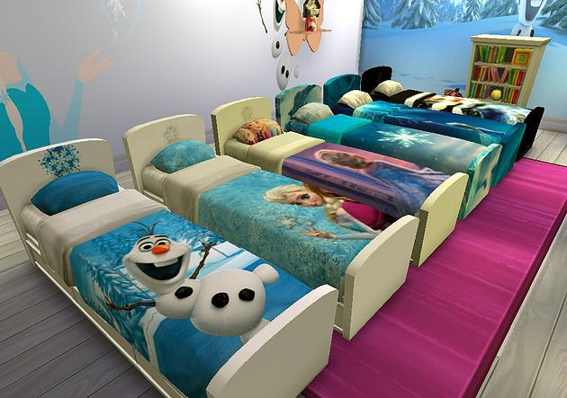 Frozen 2 Bed at Splay » Sims 4 Updates
