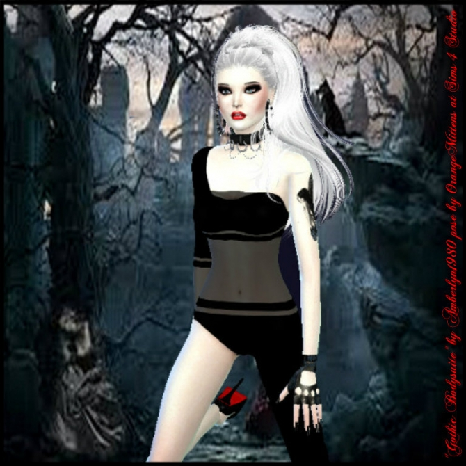 Gothic Bodysuit at Amberlyn Designs image 570 Sims 4 Updates