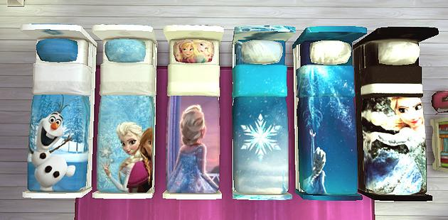 Sims 4 Frozen 2 Bed at Splay