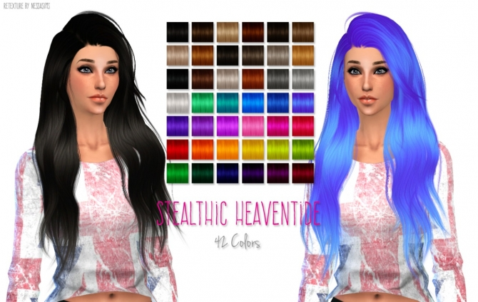 Hair Retextures At Nessa Sims 187 Sims 4 Updates