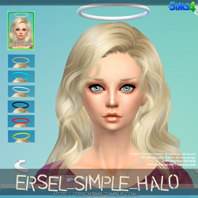 Simple Halo By Ersel At Ersch Sims 187 Sims 4 Updates