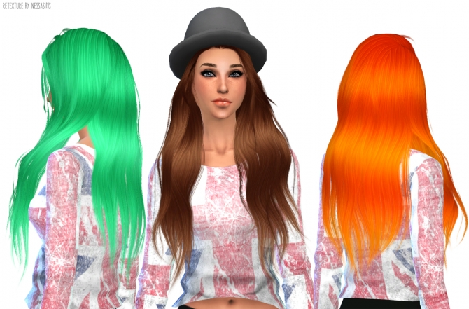 Hair retextures at Nessa Sims image 5918 Sims 4 Updates