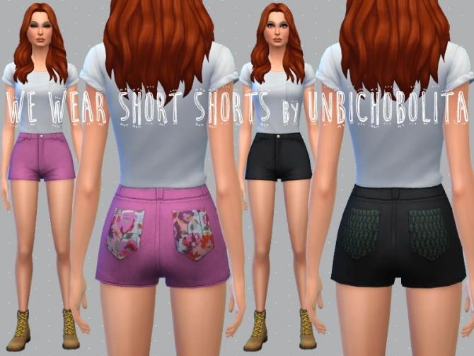 Shorts recolors at Un bichobolita image 6013 Sims 4 Updates