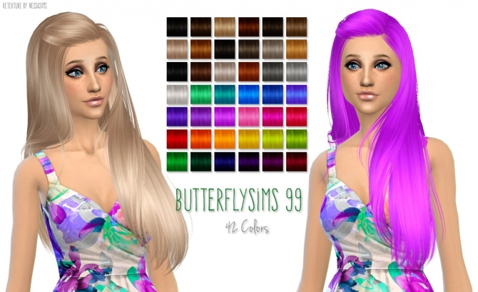 Hair retextures at Nessa Sims image 6017 Sims 4 Updates