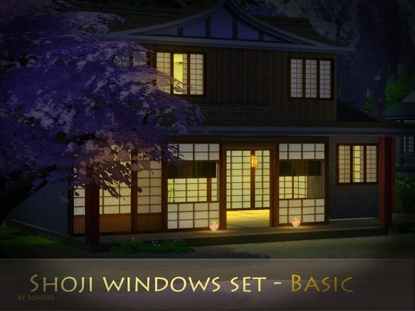 Shoji windows set by Schedels Asylum at TSR image 6103 Sims 4 Updates