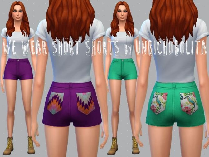 Shorts recolors at Un bichobolita image 6119 Sims 4 Updates