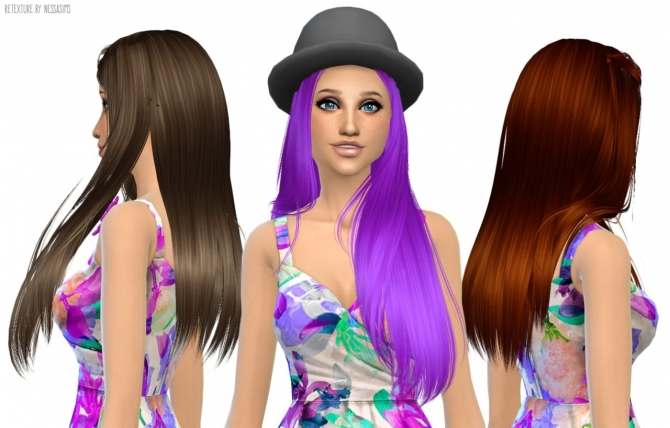 Hair retextures at Nessa Sims image 6122 Sims 4 Updates