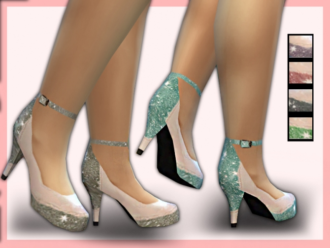 Glitter shoes and dress at Shanelle Sims image 6126 Sims 4 Updates
