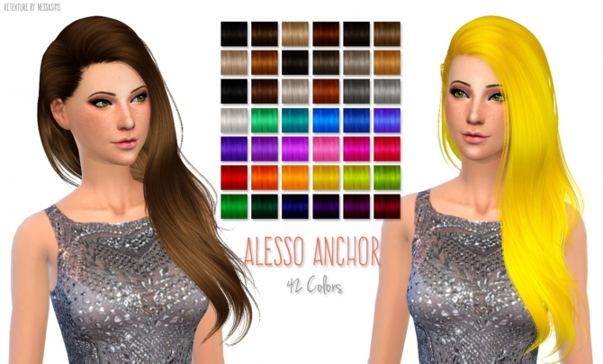 Hair retextures at Nessa Sims image 6217 Sims 4 Updates