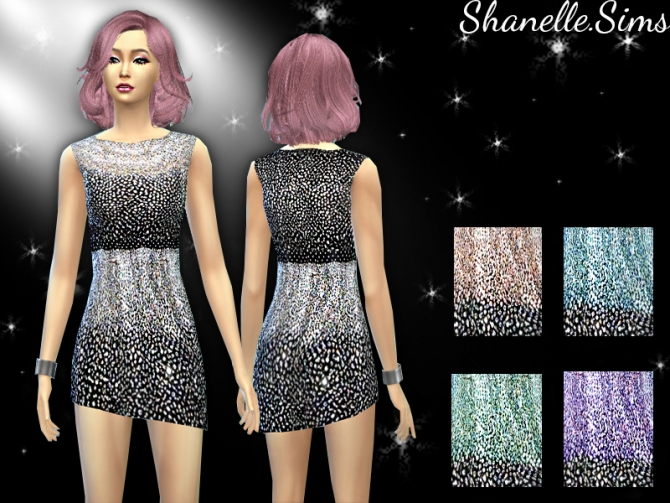 Glitter shoes and dress at Shanelle Sims image 6221 Sims 4 Updates
