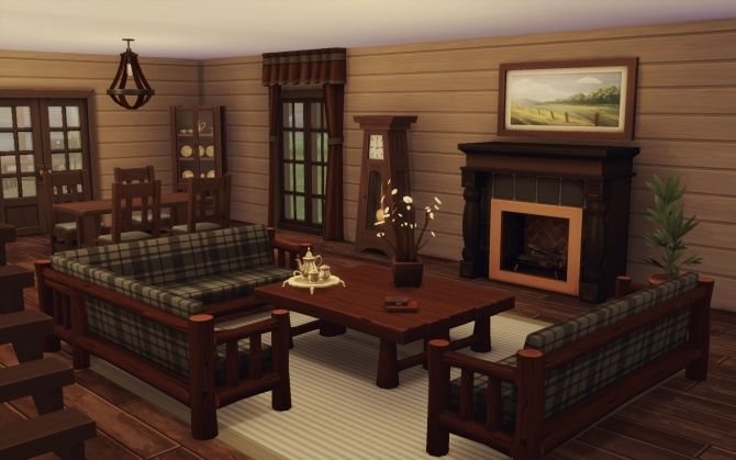 House 08 A Love And A Cabin At Via Sims 187 Sims 4 Updates
