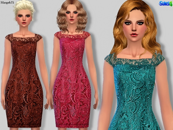 Adriana Caplace Dress by Margie at Sims Addictions image 6314 Sims 4 Updates