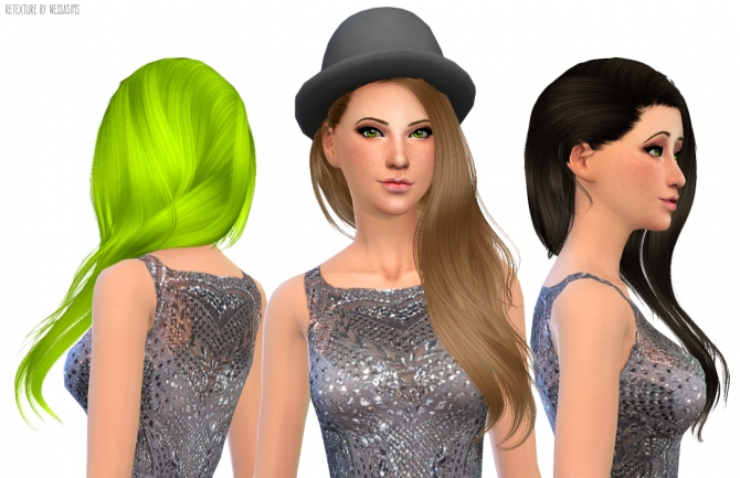 Hair retextures at Nessa Sims image 6315 Sims 4 Updates