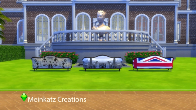 City Sofa at Meinkatz Creations image 638 Sims 4 Updates
