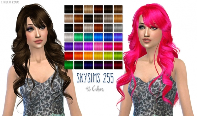 Hair retextures at Nessa Sims image 6415 Sims 4 Updates