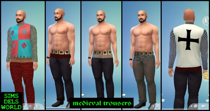 Medieval trousers and top at SimsDelsWorld image 6418 Sims 4 Updates