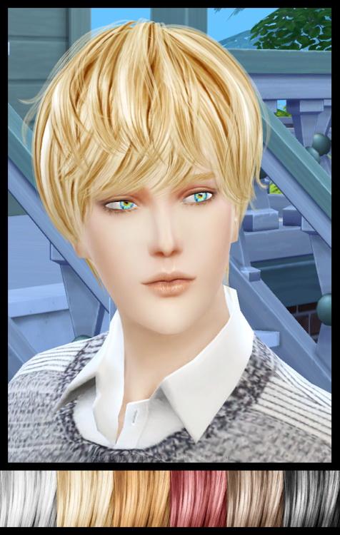 Sims 4 NewSeas Hair YU101m Edit at Twinklestar Rg Veda