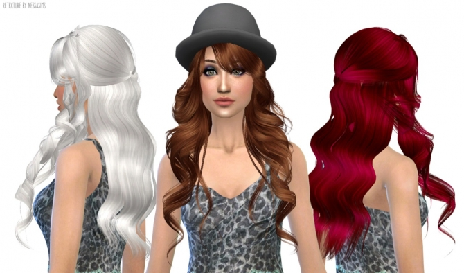 Hair retextures at Nessa Sims image 6514 Sims 4 Updates
