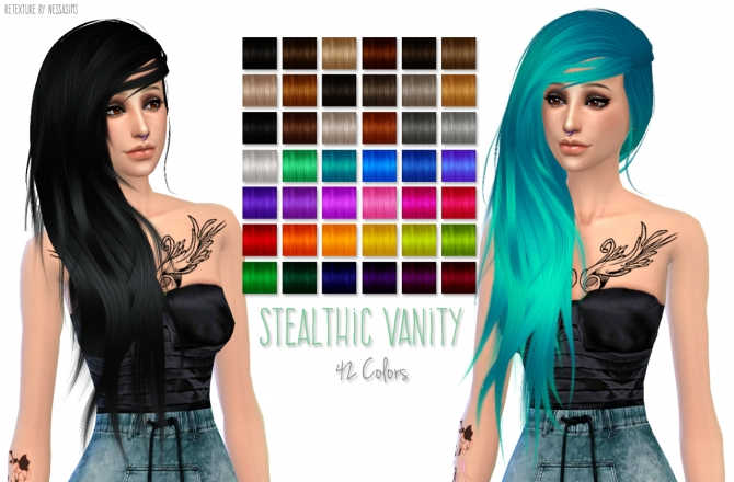 Hair retextures at Nessa Sims image 6615 Sims 4 Updates