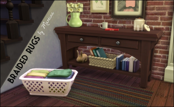 Sims 4 Cosy braided rugs at Martine's Simblr