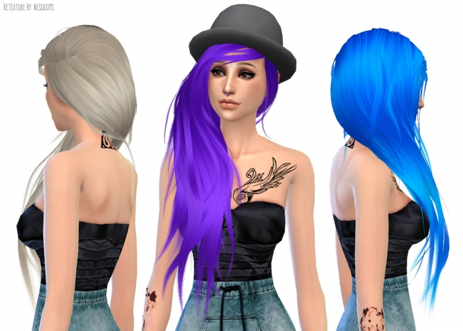 Hair retextures at Nessa Sims image 6716 Sims 4 Updates