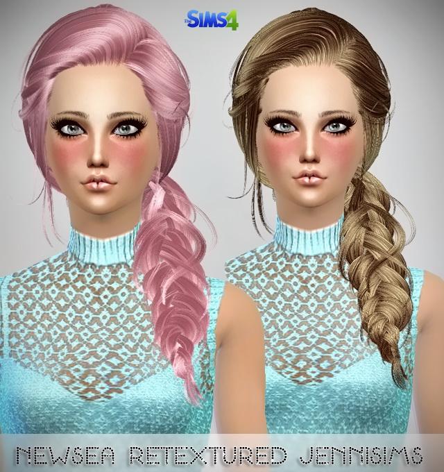 Sims 4 Newseas Night Bloom & Joice hair retextured at Jenni Sims