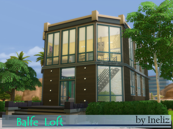 Sims 4 Balfe Loft by Ineliz at TSR