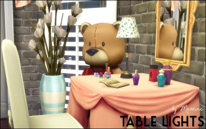 Sims 4 Table lights at Martine's Simblr