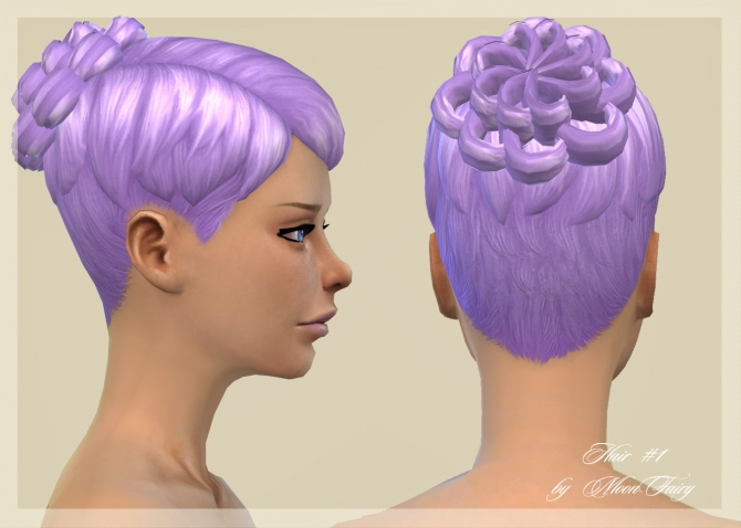 Sims 4 Hair #1 by MoonFairy at Everything for your sims