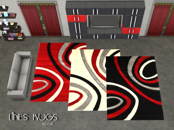 Sims 4 Lines Rugs by Paogae at TSR