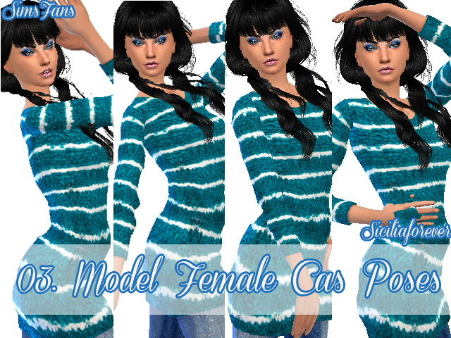 Sims 4 03 Model Female Cas Poses/Animation by Siciliaforever at Sims Fans