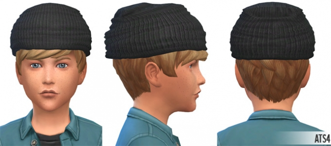 Sims 4 Beanie for Kids & more AF/M Beanie colors at Around the Sims 4