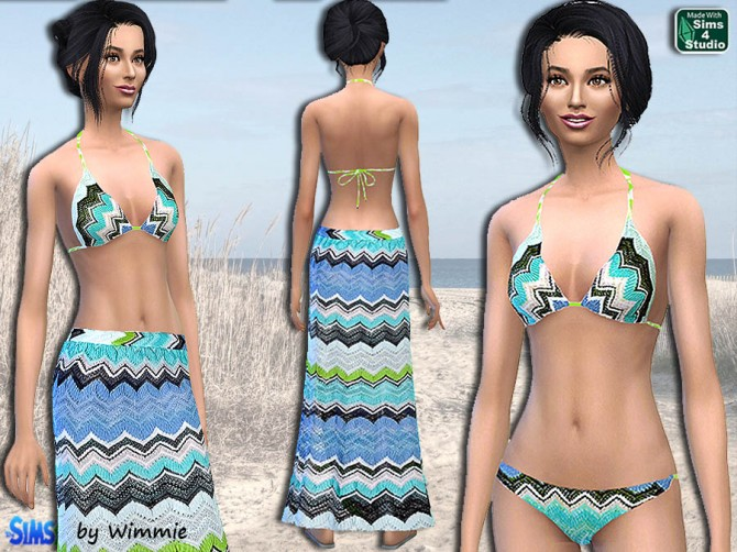 Sims 4 Beachwear set at Sims and Just Stuff