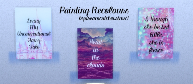 Sims 4 Recoloured paintings at DreamCatcherSims4