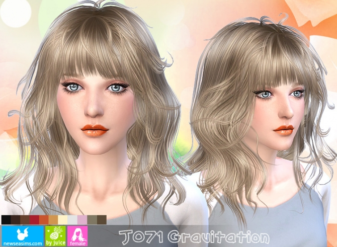 Sims 4 J071 Gravitation hair (Pay) at Newsea Sims 4