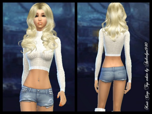 Sims 4 Crop Top Set with matching shorts at Amberlyn Designs