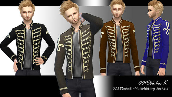 Male Military Jackets at Studio K Creation image 7420 Sims 4 Updates