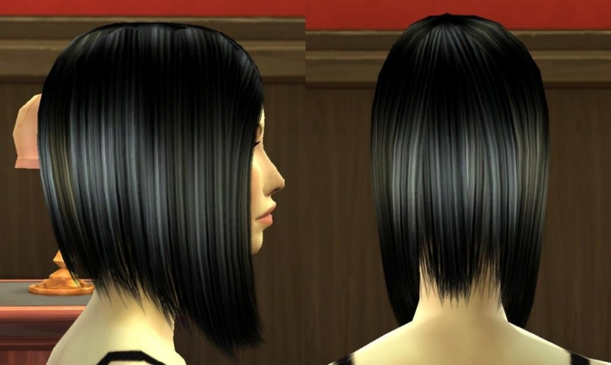 Sims 4 The Banged Bob by laracroftfan1 at Sims 4 Studio