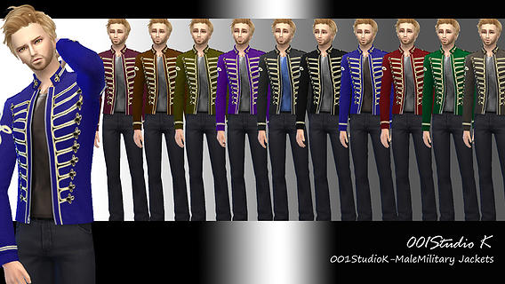 Male Military Jackets at Studio K Creation image 7522 Sims 4 Updates