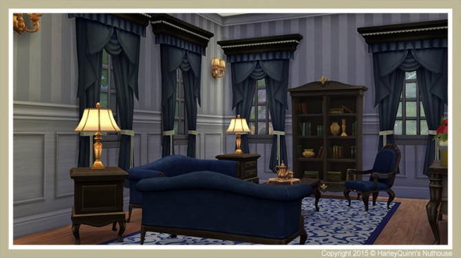 Sims 4 Le Creme house at Harley Quinn's Nuthouse