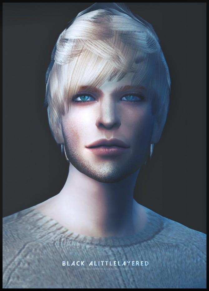 Sims 4 A little layered hair conversion at Black le