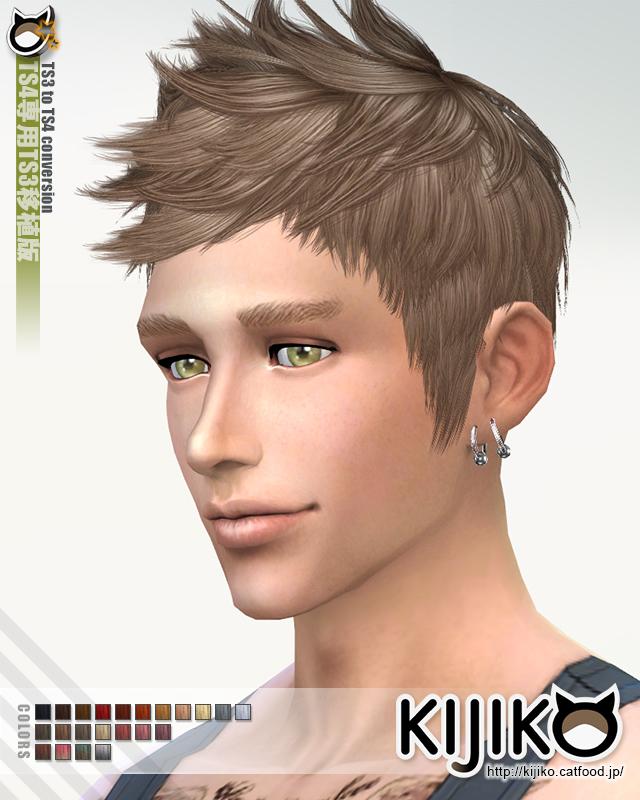 Faux hawk TS3 to TS4 conversion at Kijiko image 8011 Sims 4 Updates