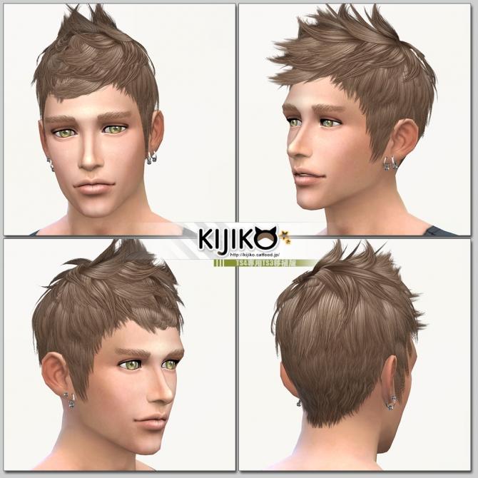 Faux hawk TS3 to TS4 conversion at Kijiko image 8117 Sims 4 Updates