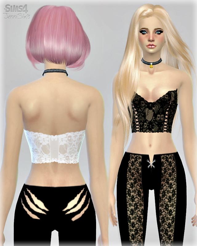 Sims 4 2 tops + 3 Pants at Jenni Sims