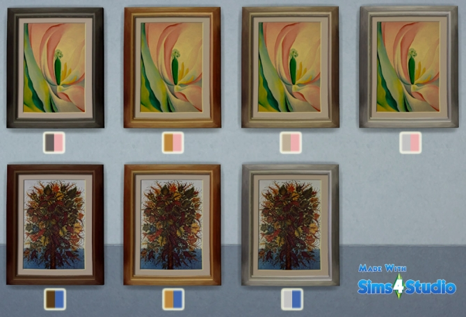 Sims 4 Female portraits and flower paintings at Sophia Virtual Estate
