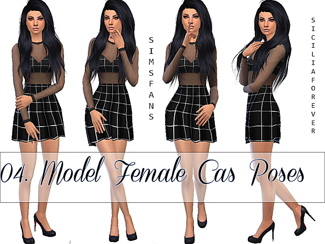 04 Model Female Cas Poses Animation By Siciliaforever At