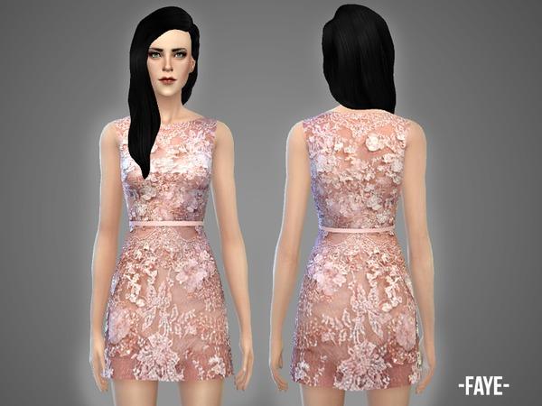 Faye dress by April at TSR image 882 Sims 4 Updates