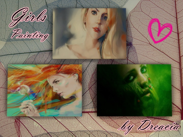 Sims 4 Girls Painting by Dreacia at My Fabulous Sims